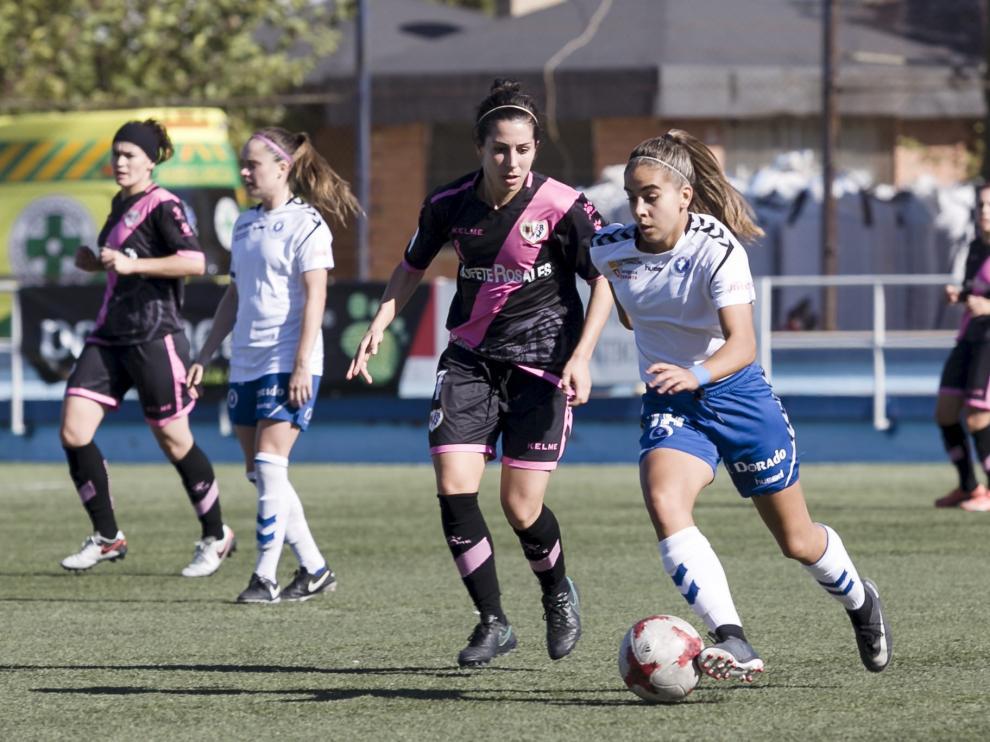 El Zaragoza femenino cayó derrotado contra el Rayo Vallecano