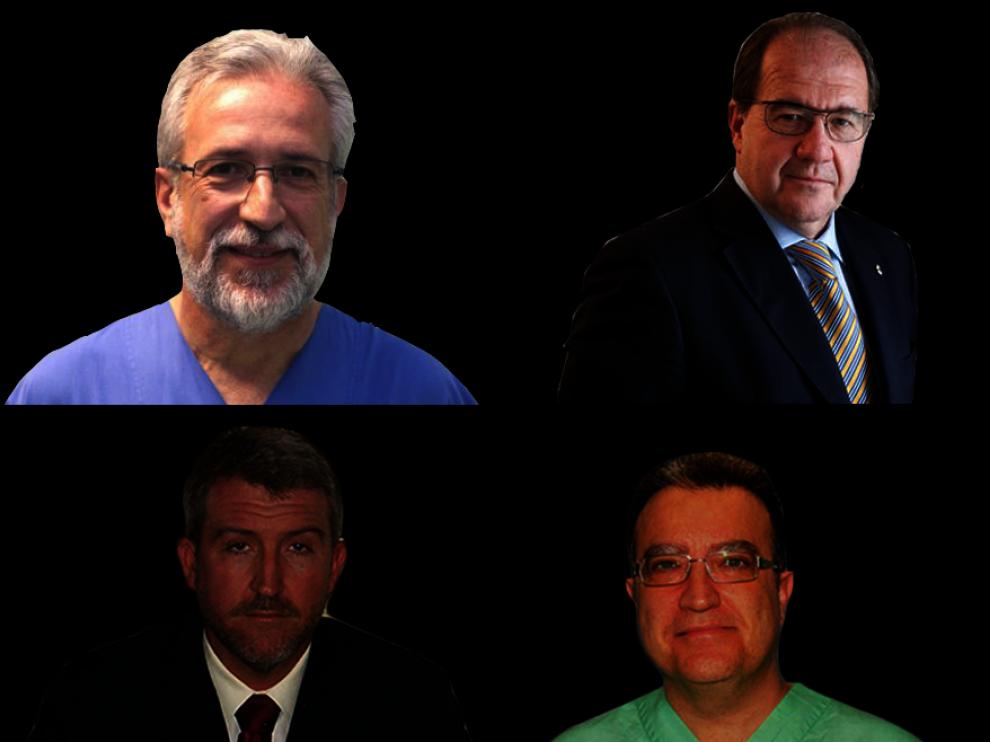 Los cuatro médicos de Zaragoza que aparecen en el ranquin.