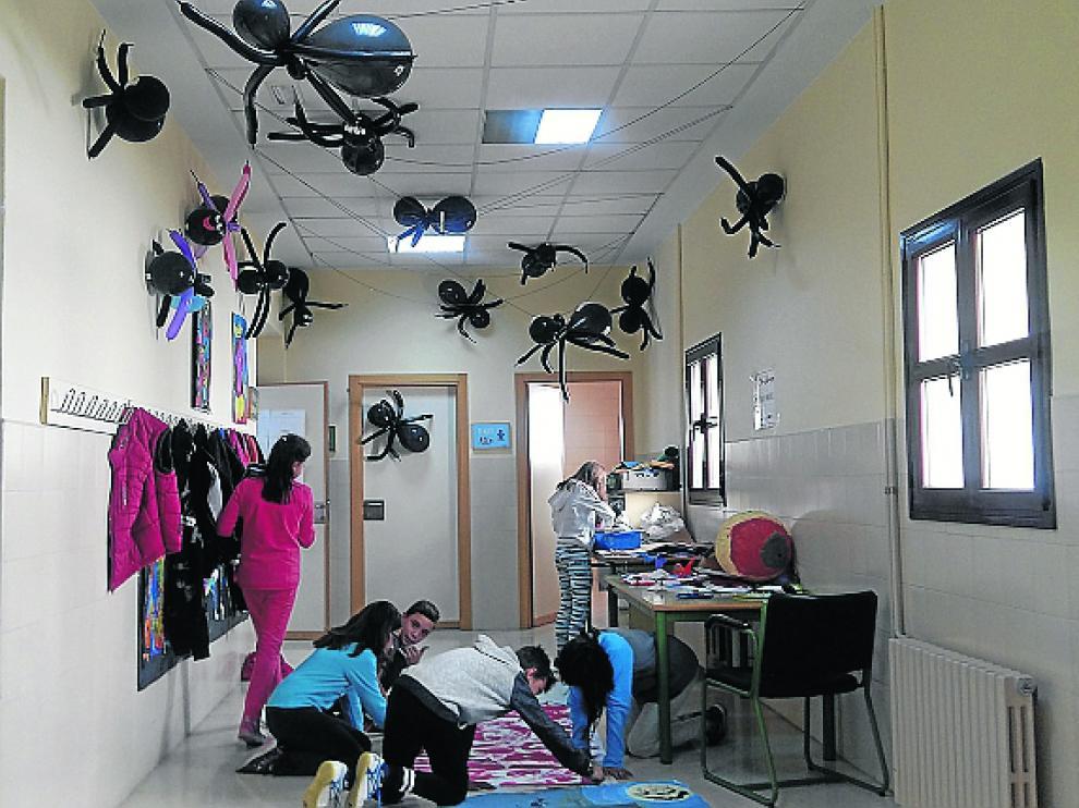 Inquietante interior del colegio Palmireno de Alcañiz.