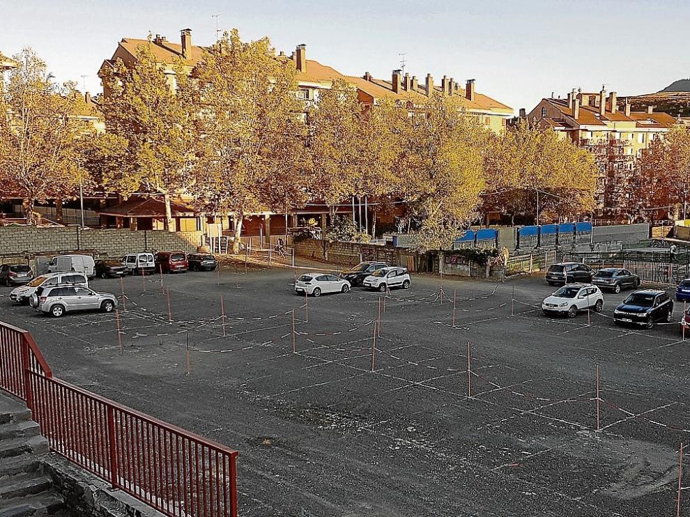 Zona habilitada desde el pasado mes de agoto en la explanada de la vieja pista de hielo.
