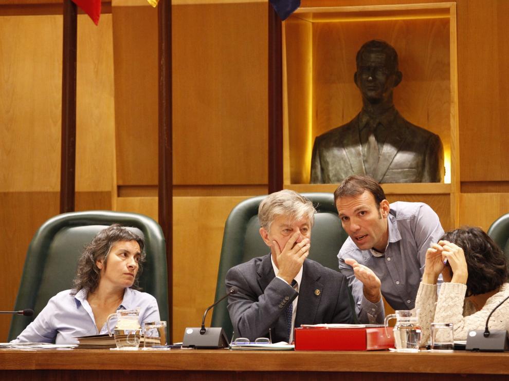 Pleno de este lunes en el Ayuntamiento de Zaragoza.