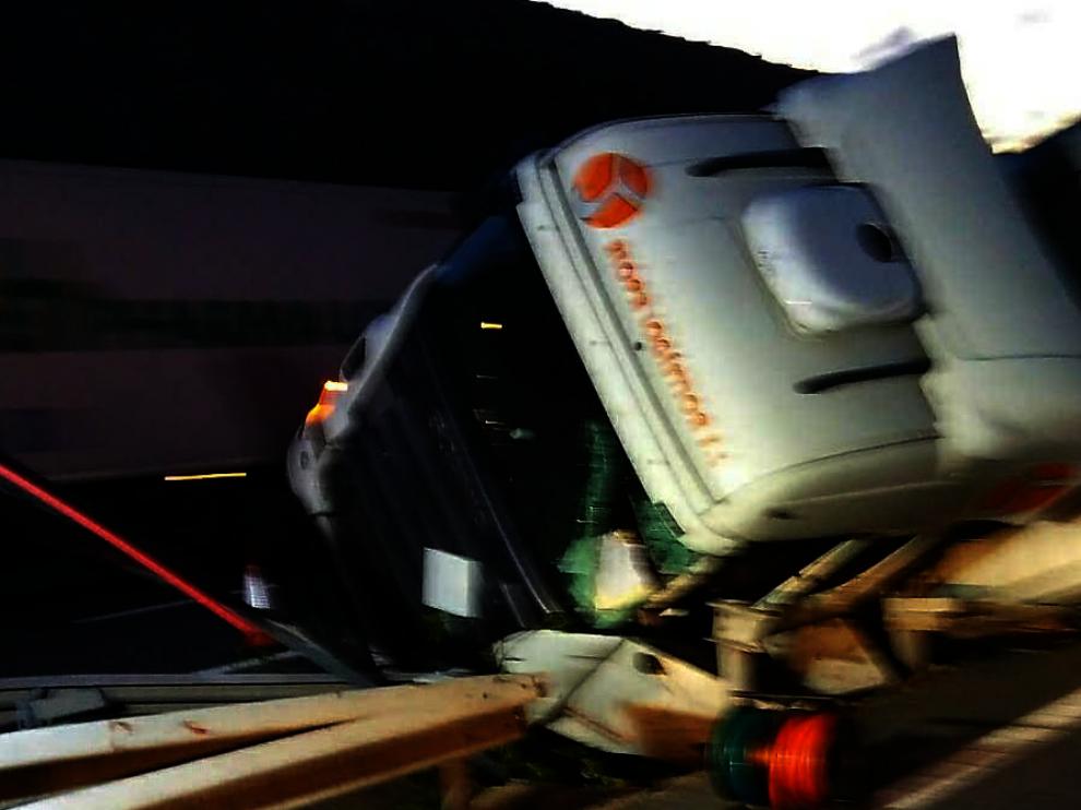 El accidente ha ocurrido en dirección Madrid en el kilómetro 266.