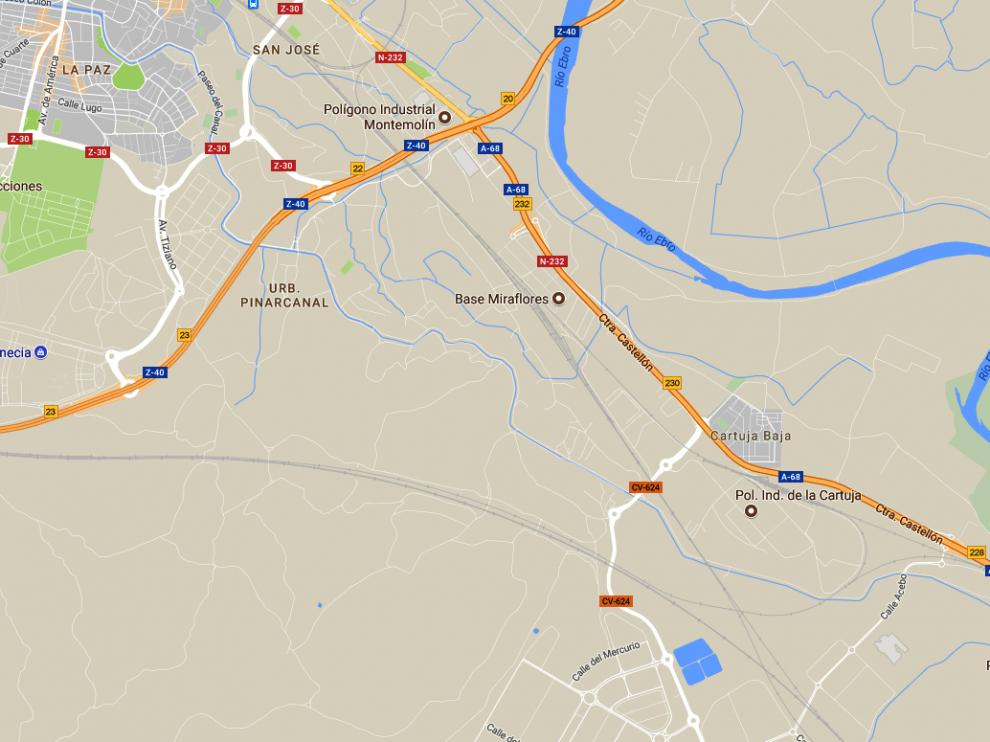 El accidente ha tenido lugar en una vía de acceso al polígono industrial.
