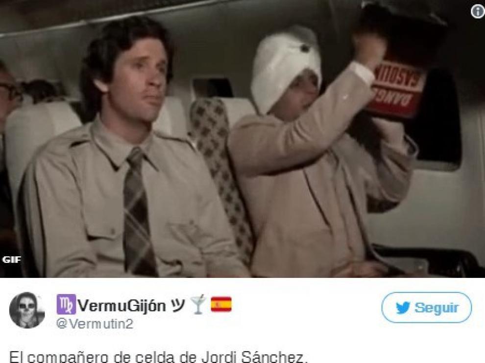 Los tuiteros se compadecen (con humor) del excompañero de celda de Jordi Sánchez