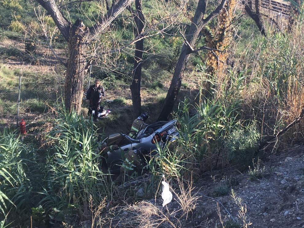 Aparatoso accidente en Casetas sin daños personales