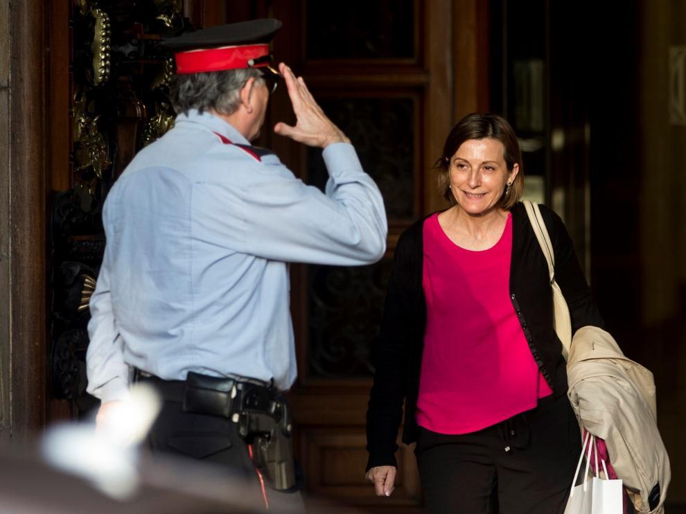 La presidenta del Parlamento catalán, Carme Forcadell, este martes