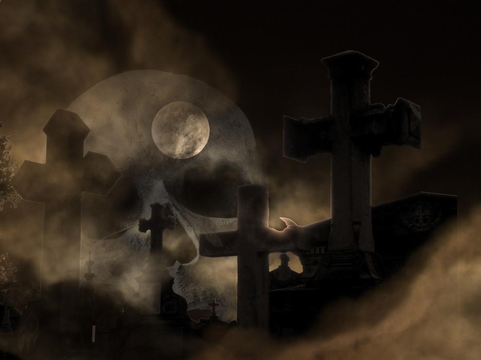 Foto de archivo de un cementerio.