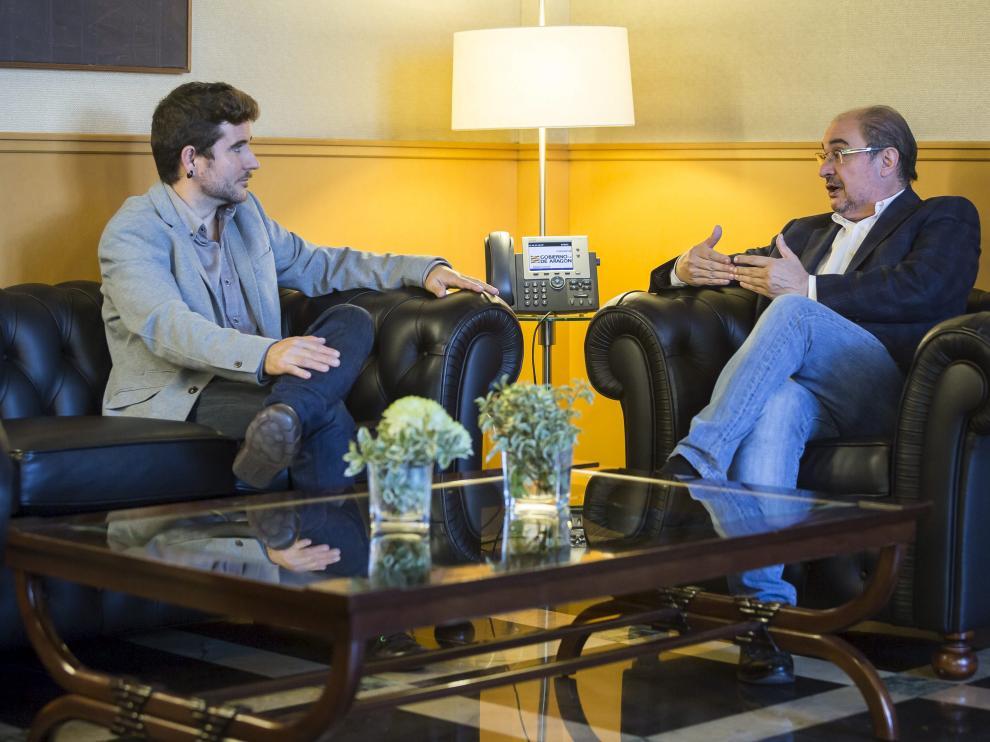 Reunión de Javier Lambán y Nacho Escartín