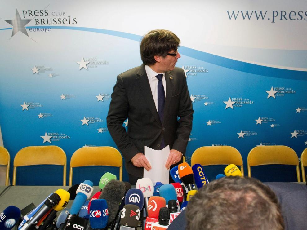 Carles Puigdemont ha comparecido en Bruselas