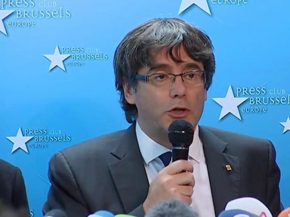 Comparecencia de Carles Puigdemont en Bruselas
