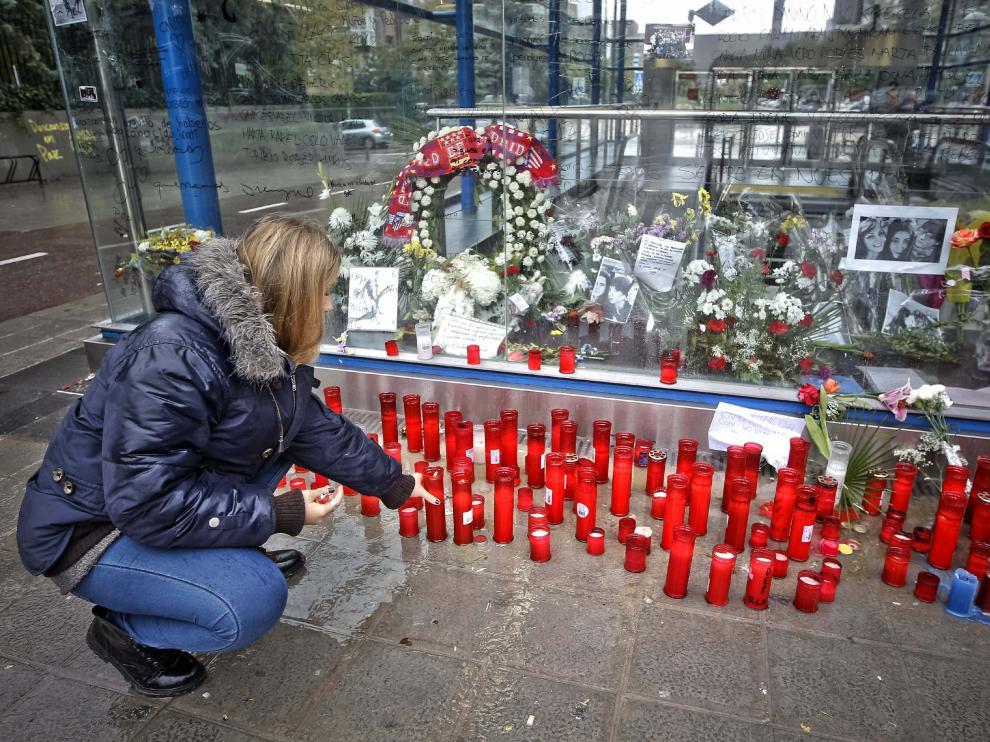 Velas, en recuerdo de las víctimas.