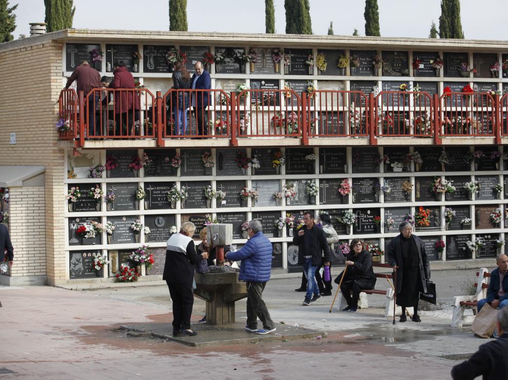 Día de Todos los Santos 2017 en el cementerio de Torrero