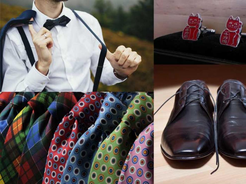 La moda masculina ofrece un amplio abanico de accesorios para dar personalidad a los trajes