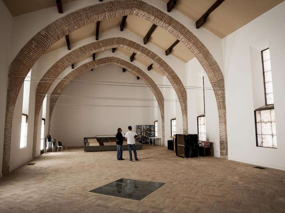 Sala principal del futuro Museo de la villa romana de La Malena, de inminente apertura.
