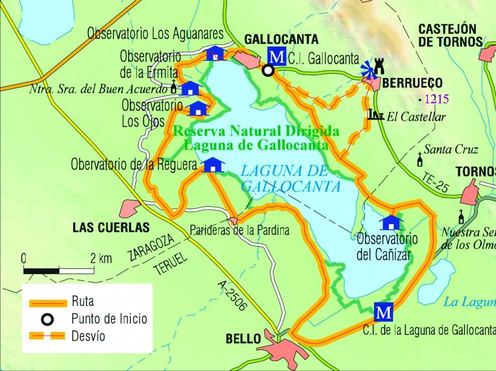 Resultado de imagen de mapa Laguna de Gallocanta