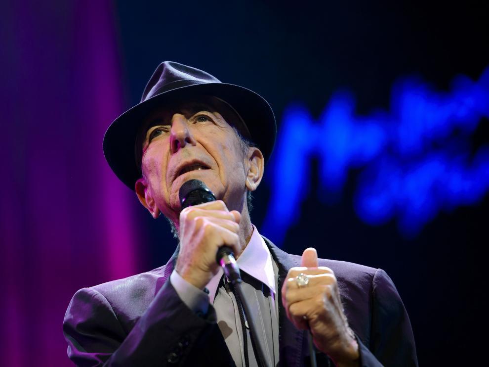 El artista canadiense Leonard Cohen.