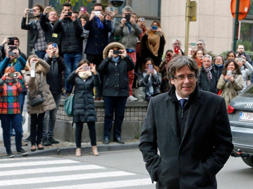 Imagen de archivo del expresidente de la Generalitat Carles Puigdemont en Bélgica