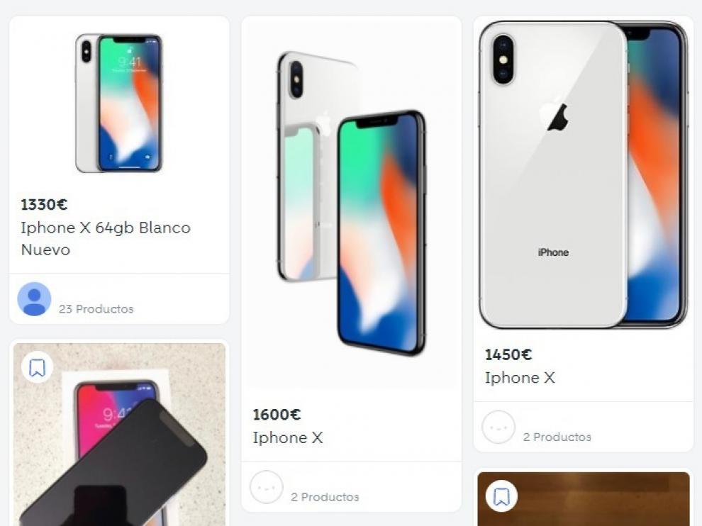 Iphone X a la venta en Zaragoza en páginas de segunda mano