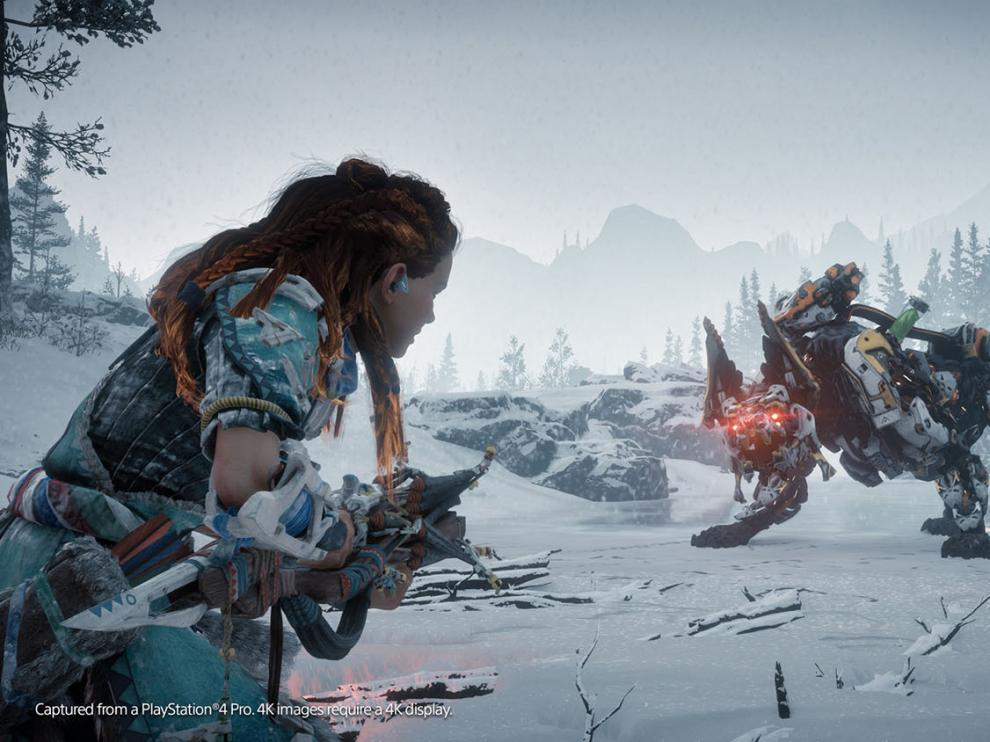 'The Frozen Wilds' incluye nuevas y temibles máquinas contra las que combatir, nuevas armas, habilidades y armaduras
