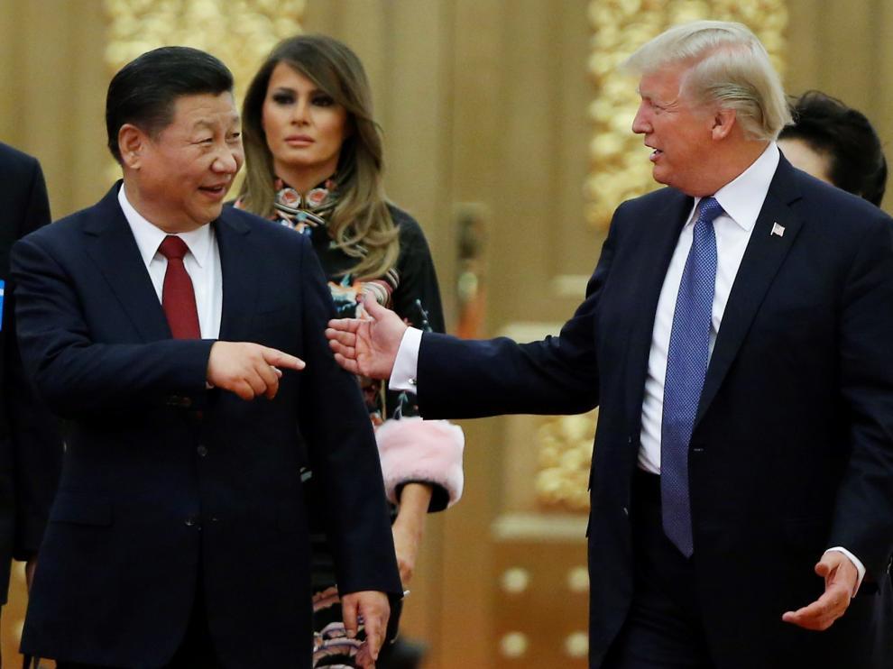 Donald Trump y el presidente chino, Xi Jinping