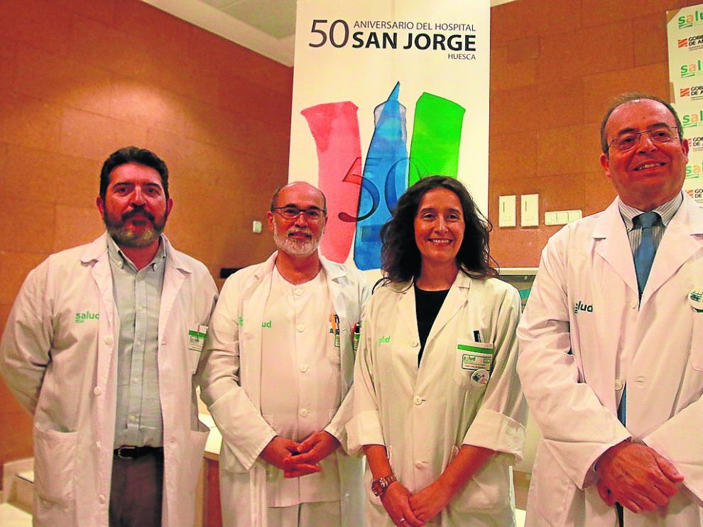 De izquierda a derecha, Francisco Casanava, Amalio Bermejo, Raquel Montoiro y J. Ignacio Castaño.