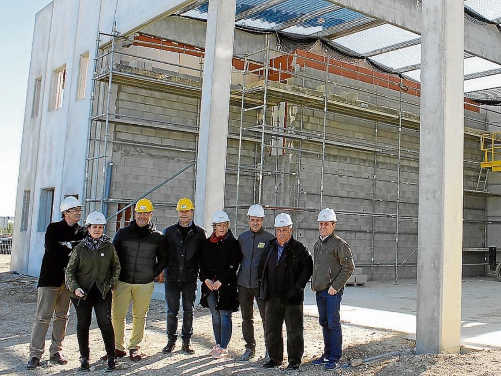 Representantes de la Comarca y de la Diputación visitaron ayer las obras.