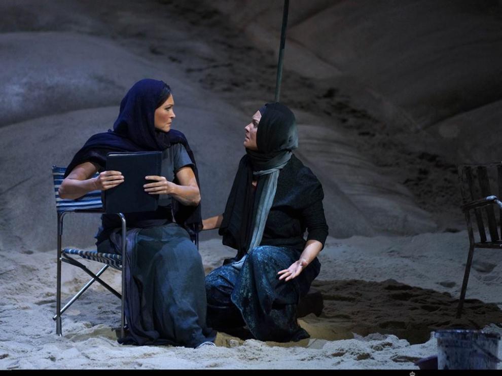 Escena de la ópera 'El holandés errante', el año pasado en el Teatro Real de Madrid.