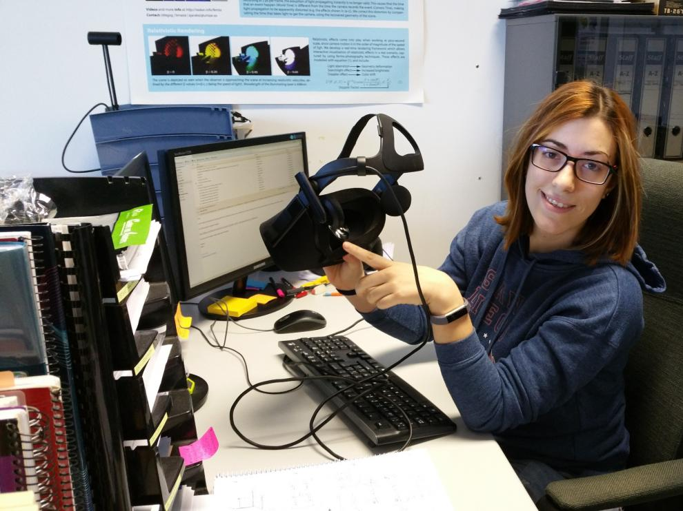 Ana Serrano, la estudiante de doctorado de la UZ premiada por Adobe.