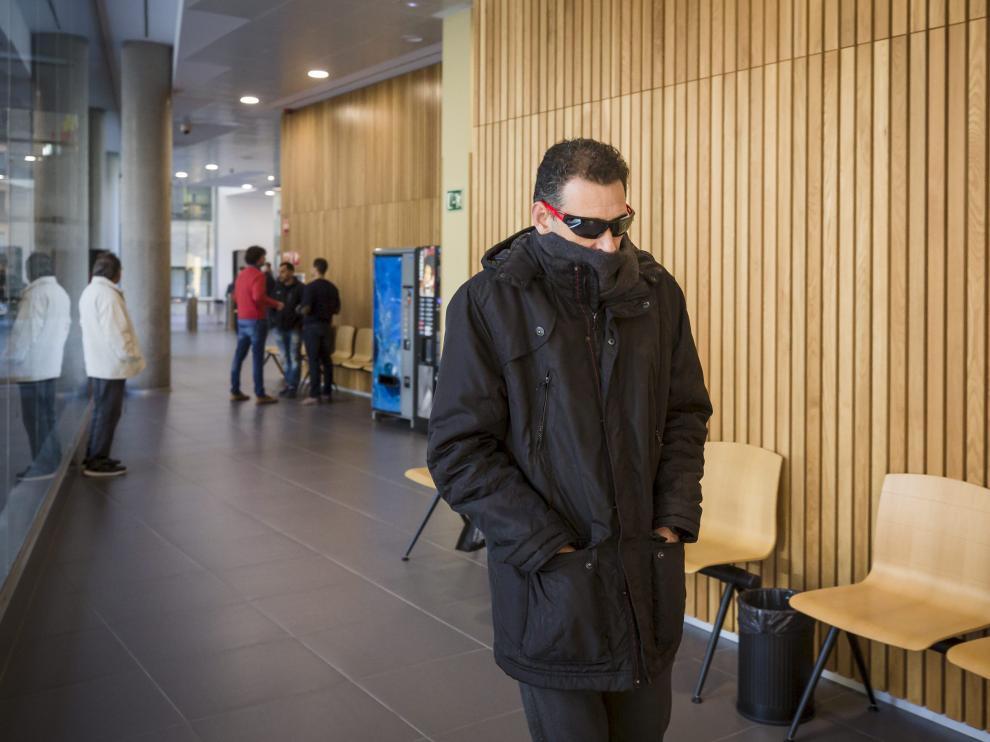 El acusado, Roberto Coll, el día que fue juzgado en la Audiencia de Zaragoza.