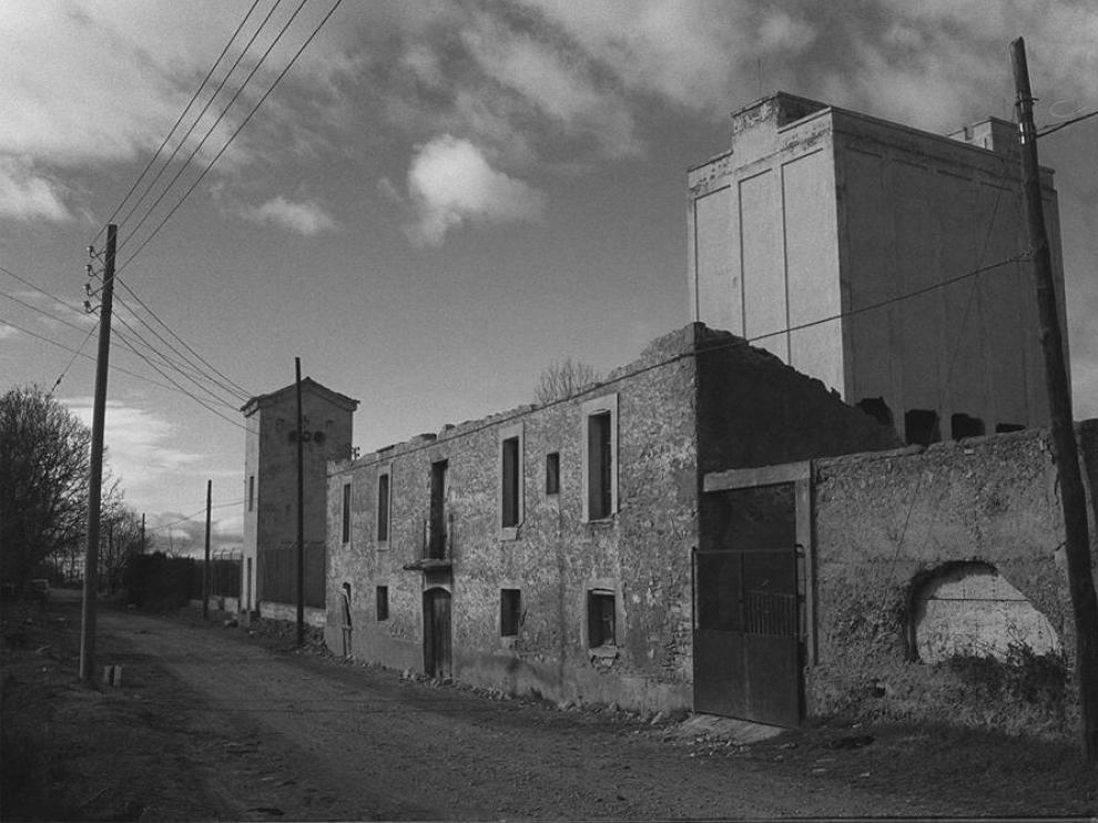 Antiguo silo de Jaca, que se derribó para construir viviendas en el Llano de la Victoria