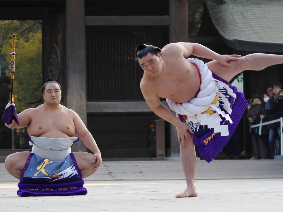 El luchador de sumo mongol Harumafuji