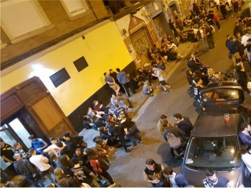 Panorámica de la calle de Maestro Marquina durante una noche reciente.