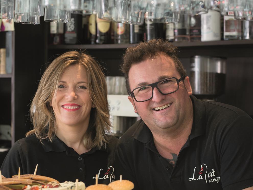Rubén Sanjuán y Mariángel Cuartero, responsables del restaurante.