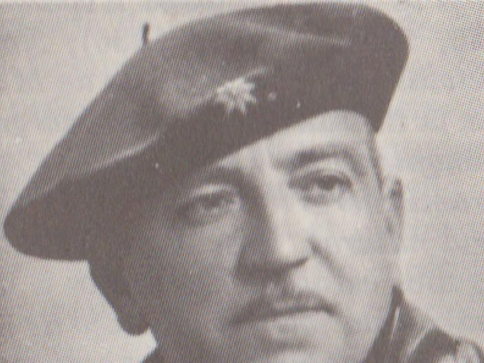 Jesús Comín, abuelo del exconsejero Antoni Comín, que fue jefe de los carlistas en Aragón.