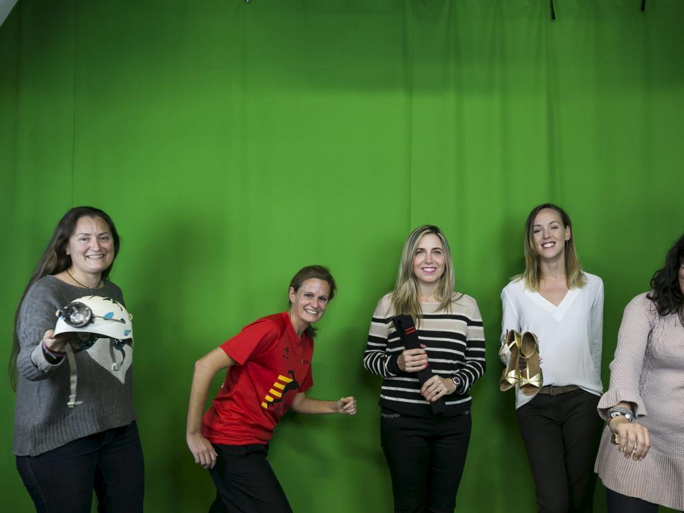 Ainhoa Ruiz (espeleología), Susana Ochoa (atletismo), Ana Isabel Claveras (kárate), Sara Baudín (baile deportivo) y Carlota Albás.