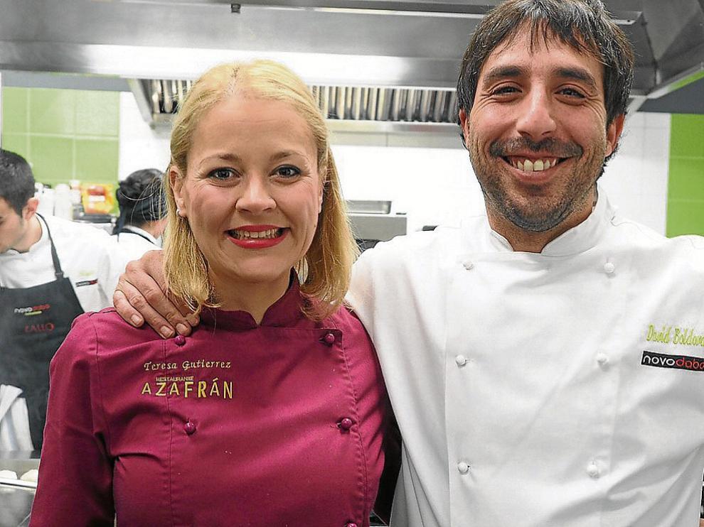 Teresa Gutiérrez y David Boldova, dos cocineros que aspiran a la primera estrella Michelin.