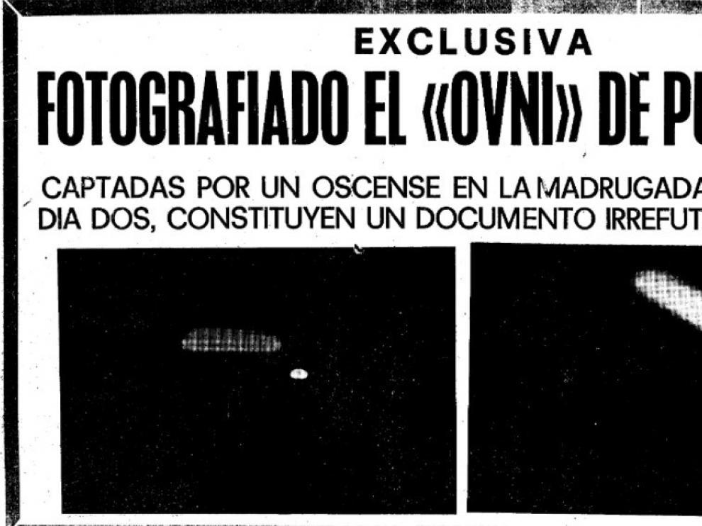Así lo contó el rotativo oscense 'Nueva España', hoy 'Diario de Altoaragón'.
