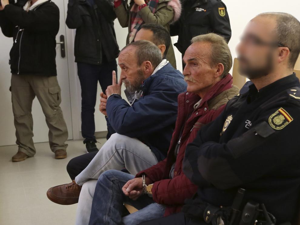 Los hermanos Ortiz Perea durante el juicio en la Audiencia Provincial de Huesca.