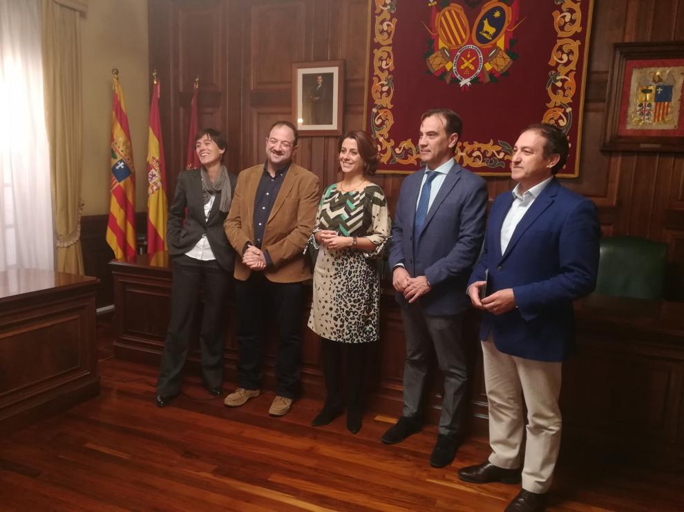 De izquierda a derecha, Silvia Lacárcel, Ramón Millán, Emma Buj, Chema Tejerina y José Manuel Valmaña