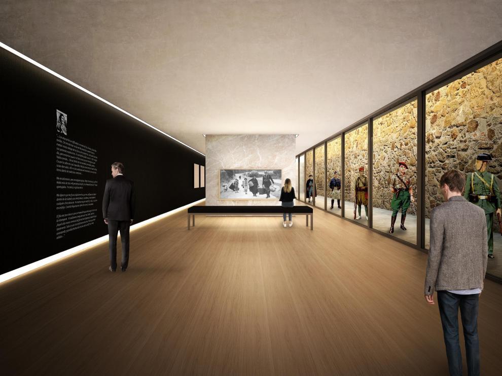 Recreación infográfica incluida en el anteproyecto del museo de la batalla de Teruel.