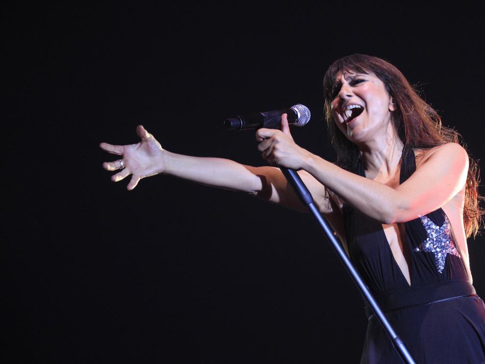 Eva Amaral durante un concierto