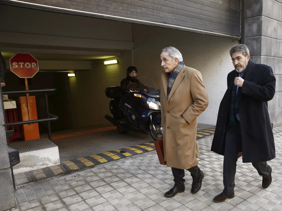 Imagen de los abogados de la joven madrileña que denunció la supuesta violación.