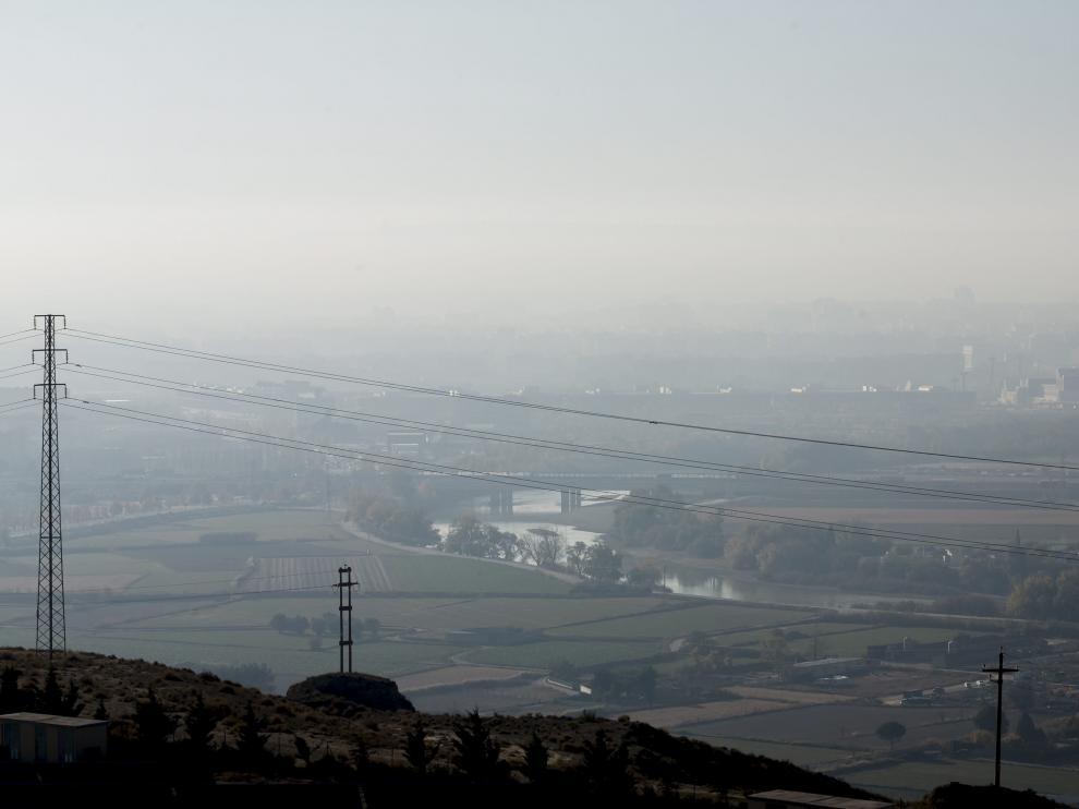 'Boina' de contaminación sobre Zaragoza