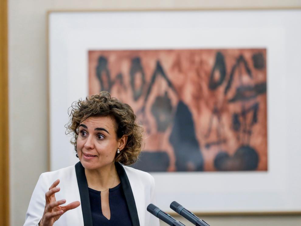 Dolors Monserrat, ministra de Sanidad, Servicios Sociales e Igualdad.