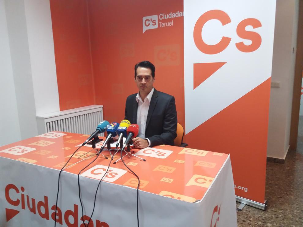 El concejal de Ciudadanos del Ayuntamiento de Teruel, Ramón Fuertes.