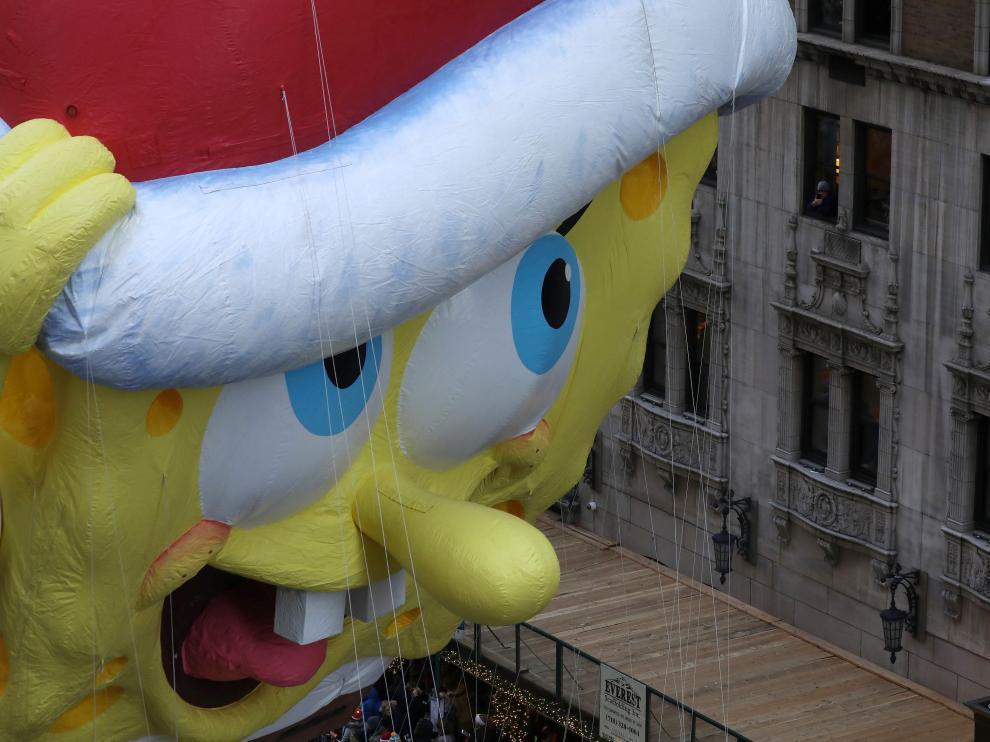 Bob Esponja también ha recorrido las calles de Manhattan.