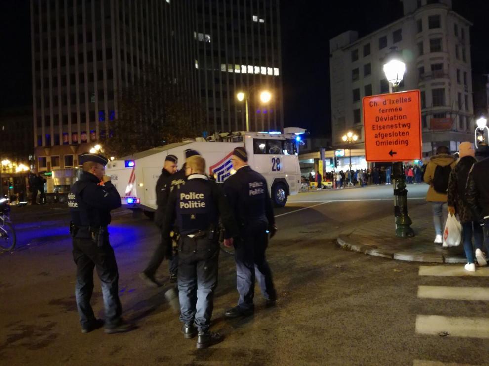 Disturbios en el centro de Bruselas