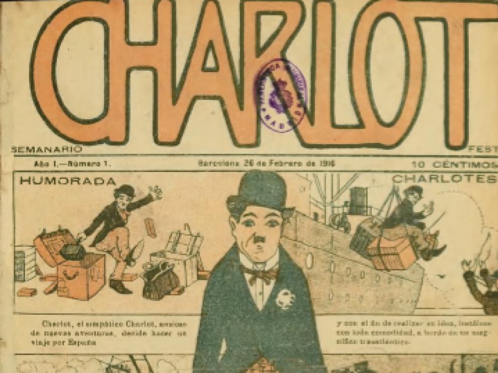 Una revista de éxito, con colaboradores aragoneses. Portada del primer número de 'Charlot' de 26 de febrero de 1916.