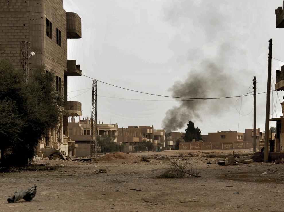 Bombardeo ruso en Siria.