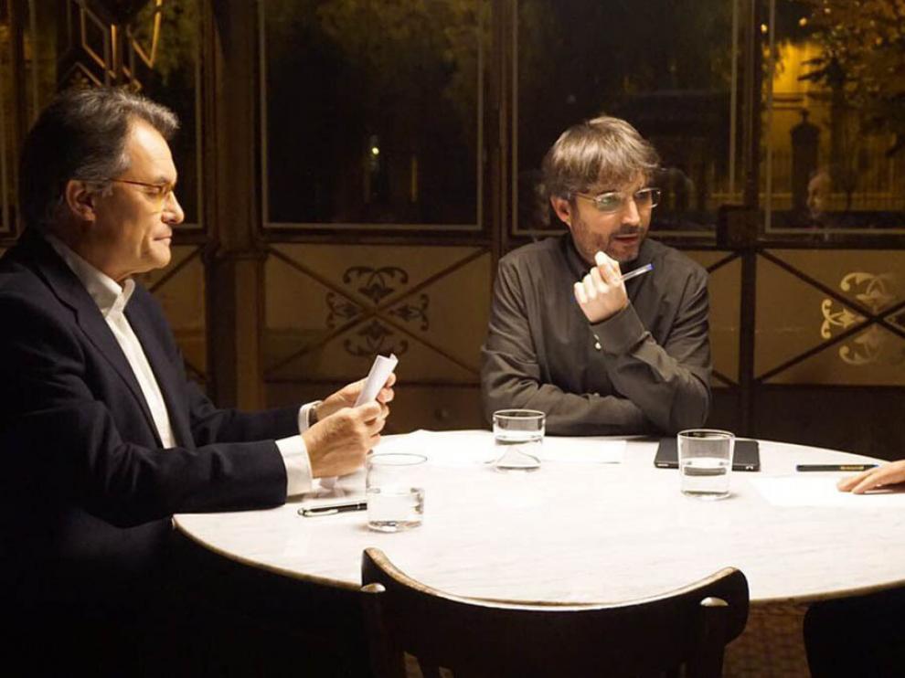 Cara a cara entre Mas y Zapatero en 'Salvados'